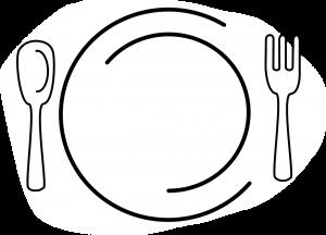 plate, dinner, restaurant